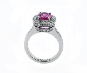 Finished Pink Sapphire Ring