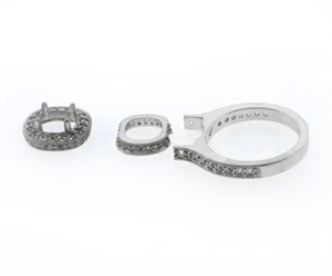 Parts for sapphire ring